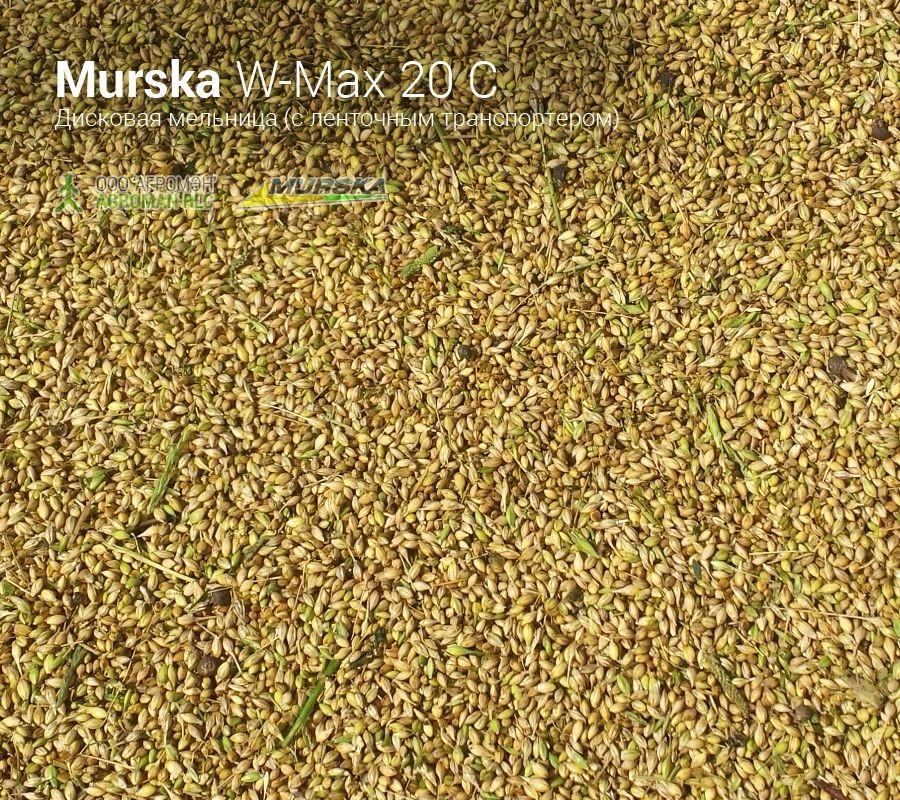 Плющеная пшеница после мельницы Murska W-Max 20 С транспортером