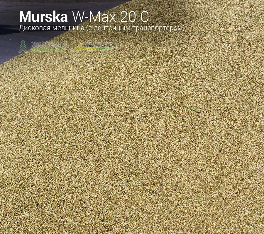 Плющеный корм для животных и птицы от мельницы Murska W-Max 20 С с транспортером
